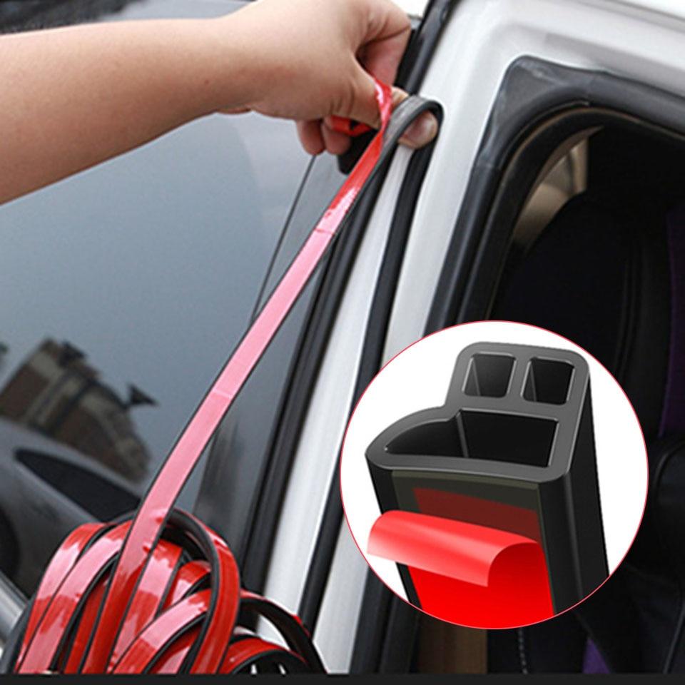 4/5m L Shape Car Door Seal Strip Auto Rubber Sealing Strips Soundproof Weatherstrip Seals Car Interior Accessories