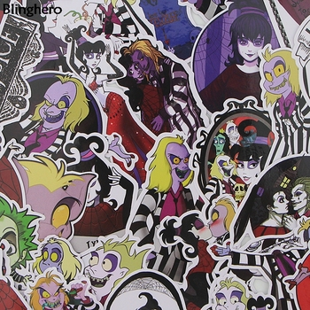 Blinghero Stylish Stickers 38 Pcs/set  Horror Stickers Stationery Stickers Laptop Skateboard Stickers Cool Horror Decals BH0081 1000 cool stickers