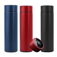 Coffee-Mug Intelligent Stainless-Steel Temperature-Display Travel 500ML Vacuum-Water-Cup
