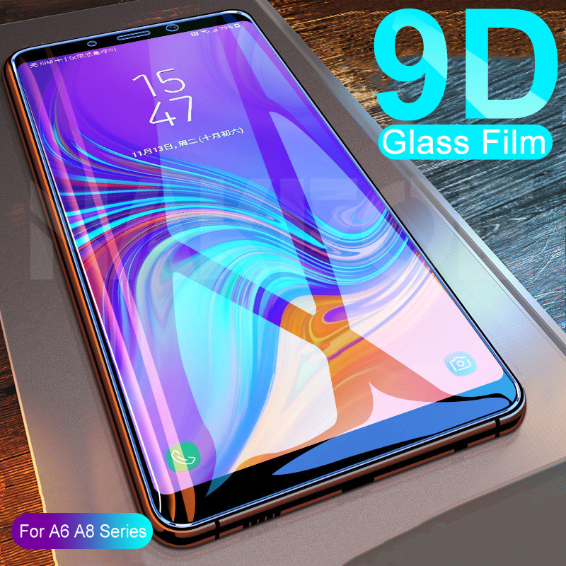 9D Protective Glass On For Samsung Galaxy A3 A5 A7 2016 2017 Screen Protector For Samsung A6 A8 A9 2018 Tempered Glass Film Case