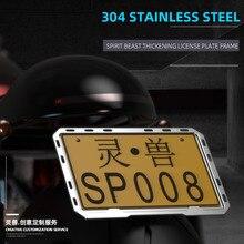 Nummerplaat Frame Modificatie Accessoires Motorfiets Universele Achterste Kentekenplaat Beugel Nummerplaat Frame Decoratie