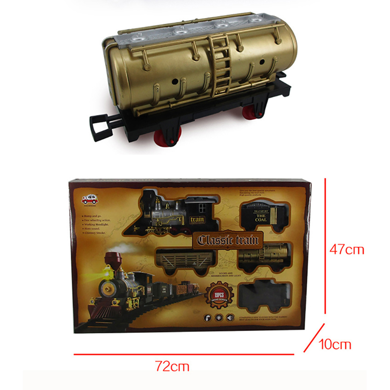 Electric Rechargeable Steam Smoke Train Music Light Track Car Toy Simulation Retro Steam Smoke Train Toys Boys Girls Gifts - 4