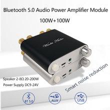 ZK 1002D Bluetooth 5.0 bezprzewodowy zestaw słuchawkowy Stereo moc dźwięku płyta wzmacniacza TPA3116D2 100W + 100W samochodów wzmacniacz Amplificador kina domowego AUX USB