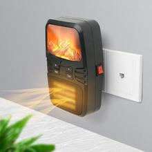 1000W Mini Electric Wall-outlet Flame Heater Air Warmer Ceramic Heating Stove Radiator Wall Handy Fan For Home Office Dormitory mini handy space heater portable wall convector stove hand air warm electric hot blower home fan office heater 1000w