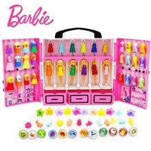 Original Barbie Dream Wardrobe Funny Pretend Dolls Toy Mini Pocket Barbie Constellation Series With Different Cloth Boneca DTC36