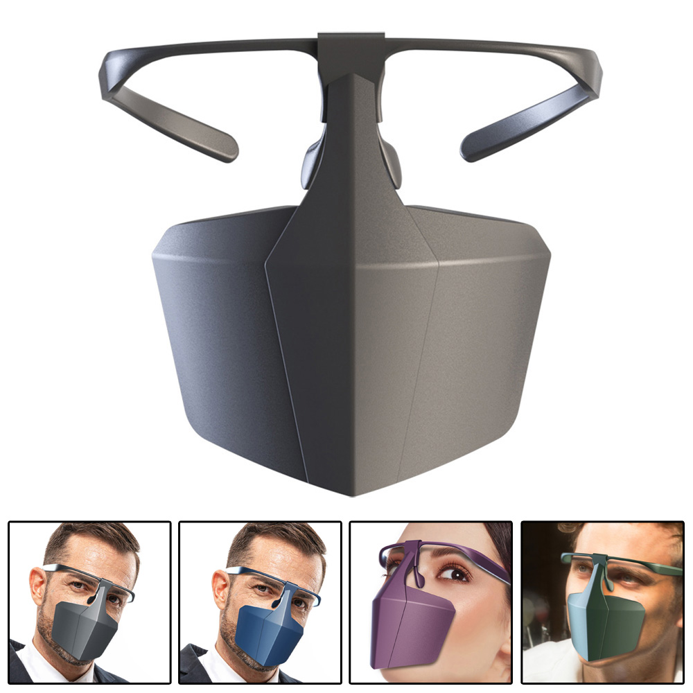 Anti-fog Splash-proof Dust-proof Face Cover Anti Glasses Mist Saliva Proof Reusable Safety Protection Cover Work With Mask