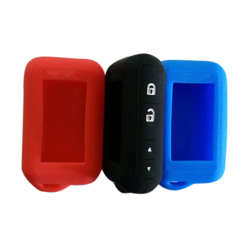 Wholesale E90/E60 Silicone Case For 2 Way Car Alarm System Keychain Starline E60 E61 E62 E90 E91 LCD Remote Control Key Chain