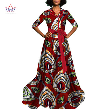 2019 new african dress for women Dashiki africa long ankara dresses v-neck bazin africn print clothing plus size 6xl other WY822