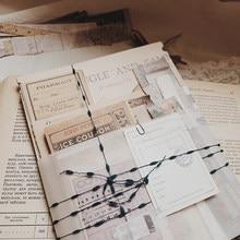 170 Uds Vintage boleto de viaje pegatinas de planificador diario etiqueta adhesiva foto álbum calcomanías de álbumes de recorte para bricolaje papelería