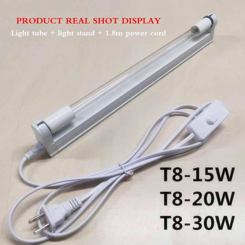 20W UVC Ultraviolet UV Light Tube Bulb Disinfection Lamp Ozone Sterilization Mites Lights Germicidal Lamp Bulb With Bracket