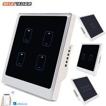 Smart Wifi Licht Wandschakelaar 1/2/3//4 Gang Moderne Touch Glas Panel Timing Ewelink App remote Voice Control Door Alexa Google Thuis