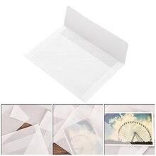 1 шт. Классический белый прозрачный упаковка конверт 17,5% 2A12,5 см Корея винтаж бумага полупрозрачный веллум Diy конверты для открыток