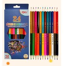 24 di colore 12 pcs a Doppia testa di piombo di colore Matita di Legno Matite Colorate per il Disegno di Cancelleria Per Ufficio Accessori Per la Scuola cheap CN (Origine) Colorato QL C402D Pastiglia 24 color