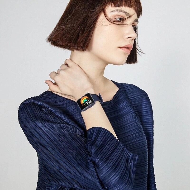 Mi Watch Lite глобальная версия GPS фитнес-трекер монитор сердечного ритма спортивный браслет 1,4 дюйма Bluetooth 5,0 умные часы-5