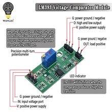 Controle análogo de alto nível do comparador da saída do módulo do comparador da tensão de lm393 3.5-24v com indicador do diodo emissor de luz