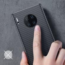 Luxuriöse Carbon Fiber Fall für Huawei Mate 30 Pro Fall Matte Abdeckung für Huawei Mate 30 Kollege Telefon Fall Ultra dünne Abdeckung Coque
