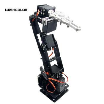 Aluminium Robot 6 DOF Arm Clamp Claw Mount Kit Mechanical Robotic Arm for Arduino Compatible