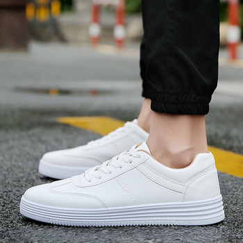 2020 Summer New Men Casual Flat Shoes Lace-up Comfortable Walking Sneakers tenis masculino adulto Male White Loafers Shoes