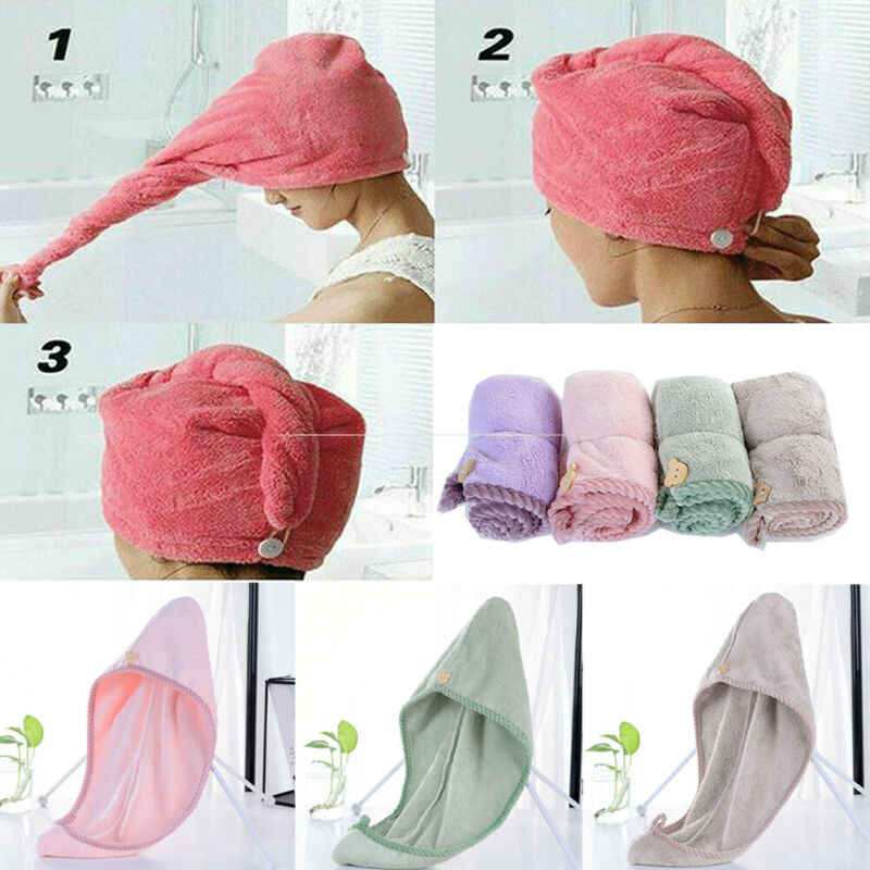 Magia Quick Dry Turbante Do Cabelo Secador de Toalhas Cap Hat Microfibra Para Banho de Chuveiro Da Piscina Spa