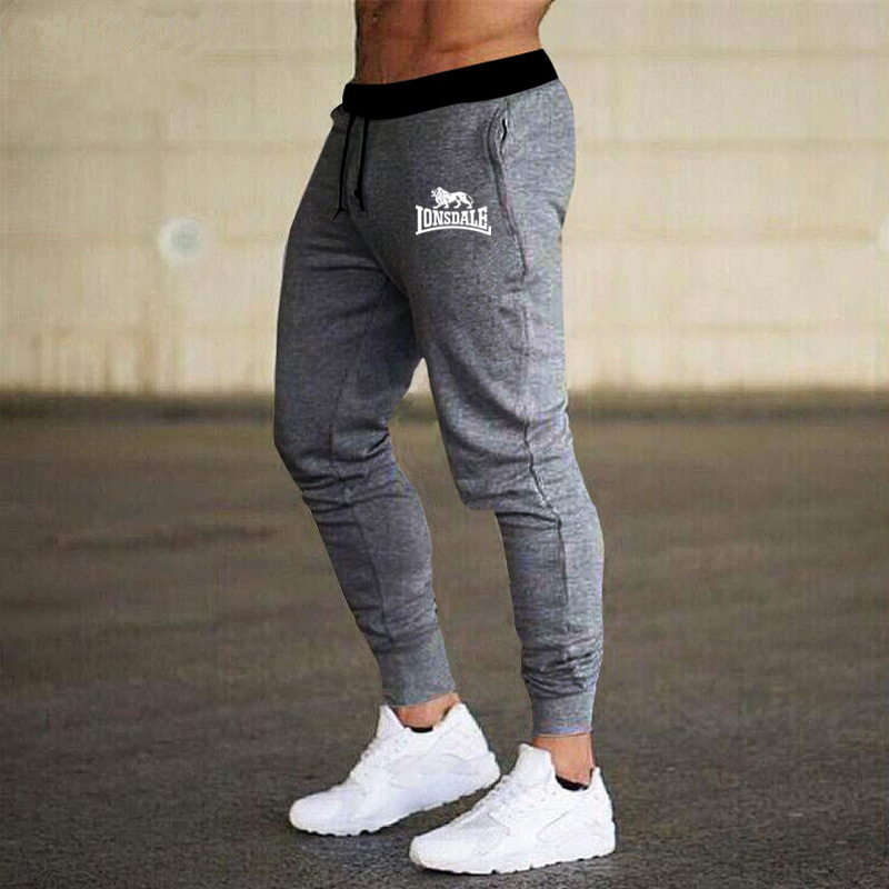 2020 Mens Joggers Casual Pants Men Sportswear Tracksuit Bottoms Skinny Sweatpants Lonsdale Trousers Black Jogger Track Pants