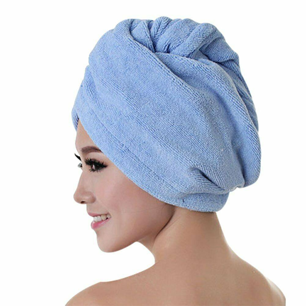 Hair Drying Towel Shower Hair Drying Wrap Womens Towel Quick Dry Hair Hat Cap Turban Head Wrap Bathing Tools