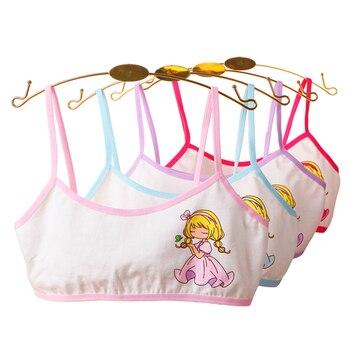4pcs girls training bras young girl bra Cotton Teenage underwear for kids summer  Teens Puberty Clothing цена 2017
