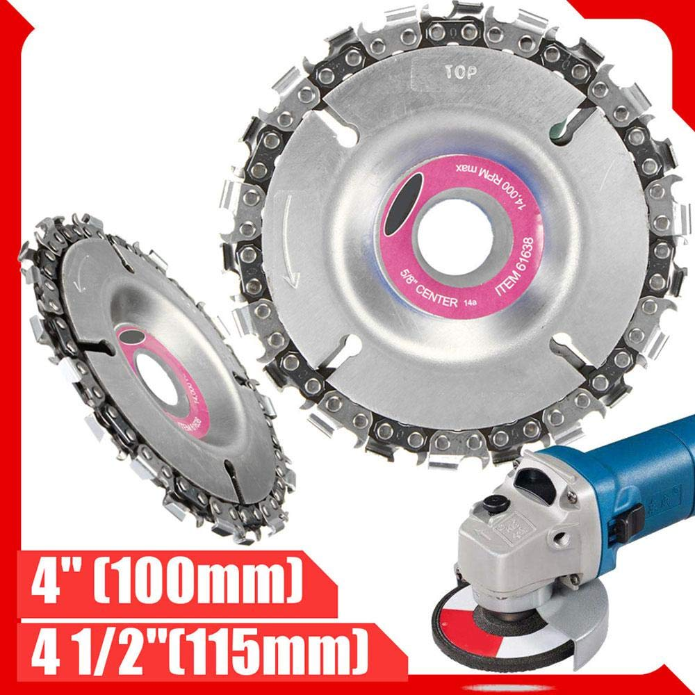 4 Inch 22 Tooth Grinder Disc Fine Chain Saw 4 Inch Angle Carving Culpting Wood Grinder Chain Disc For 100/115 Angle Grinder