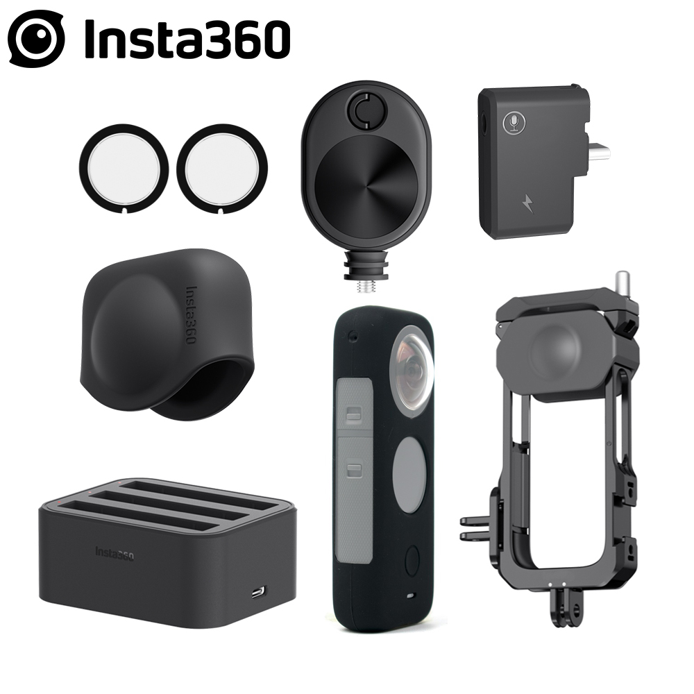 Insta360 ONE X2 Lens Guards /Mic Adapter /Lens Cap /Fast Battery Charge Hub /Bullet Time Cord /Utility Frame Accessories