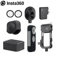 Insta360 protetores de lente um x2/adaptador mic/tampa de lente/hub de carga rápida da bateria/cabo de tempo de bala/acessórios quadro utilitário