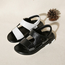 Genuine Leather Sandals Kids  Brand New Summer Children Beach Boys Shoes Casual Sport for
