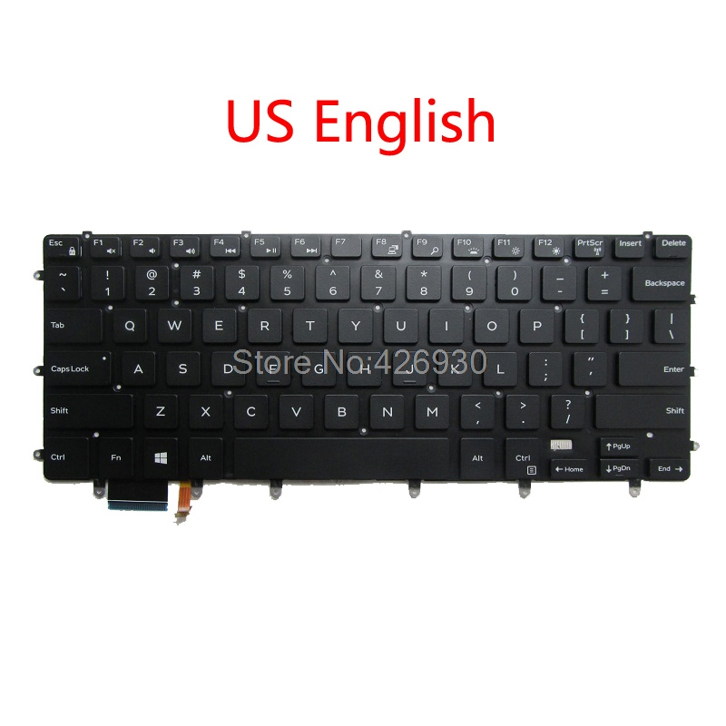 Laptop Backlit US RU SW IT SP TR UK <font><b>Keyboard</b></font> For <font><b>DELL</b></font> For XPS 15 9550 9560 <font><b>5510</b></font> 5520 For Inspiron 7347 7348 7352 7353 7359 7568 image