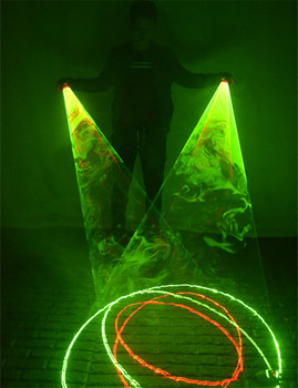 Red Green Laser Whirlwind Handheld Cannon for DJ Dancing Club Rotating Lasers Gloves Light Pub Party Show