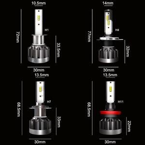Image 5 - CROSSFOX h4 bi led h7 רכב פנס led h11 h9 h8 h1 9005 HB3 9006 HB4 אוטומטי מנורת הנורה שינוי עבור מכוניות 12V 6000K ערפל אורות 2x
