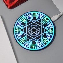 Círculo mágico design 10w qi carregador sem fio para iphone samsung xiaomi huawei telefone almofada de carregamento sem fio carregador