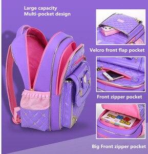 Image 4 - Sevimli prenses Schoolbag su geçirmez çocuk okul çantaları kızlar için karikatür sırt çantası kız Schoolbag çocuklar kitap çantası Mochilas