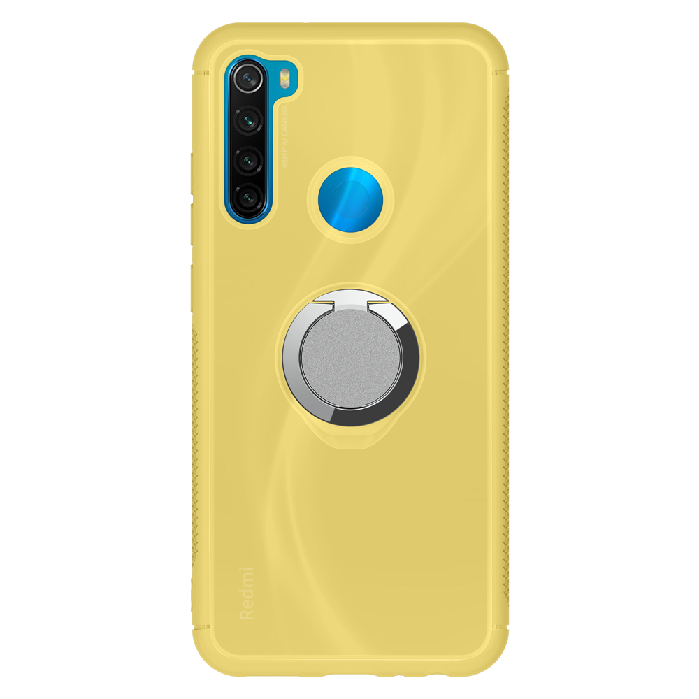 Soft TPU Phone Case For Xiaomi Redmi Note8 K20 UV Discoloration Phone Back Cover With Adsorption Finger Ring For Xiaomi 9T 9Tpro