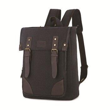 Weysfor Vogue Men's Canvas Backpack Vintage Canvas Backpack School Bag Travel Bags Large Capacity Backpack Laptop Backpack Bag new fashion men s backpack vintage canvas backpack school bag men s travel bags large capacity travel 14inch laptop backpack bag