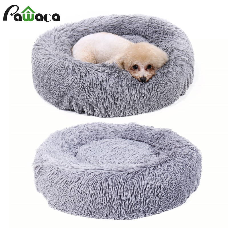 Cute Round Pet Kennel Cat Nest House Kitten Autumn Winter Warm Soft Sleeping Cave Bed Dog Animal Kennel Cushion Large And Medium