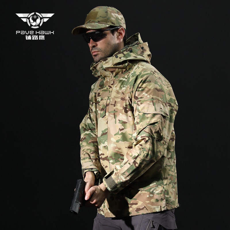 Outdoor Sports Softshell Tactical Jacket Men's Waterproof Jacket Man Camouflage Camping Hiking Hunting Clothes Windbreaker