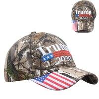 Camo Donald Trump 2020 Hat Make America Great MAGA Hat Caps Camouflage Mens Baseball Cap for Women Female