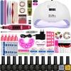 Manicure Set nail Gel Polish Base Top Coat Nail Kits 24w/48w/54w Uv Led Lamp Electric Manicure Handle Nail Art Tool set
