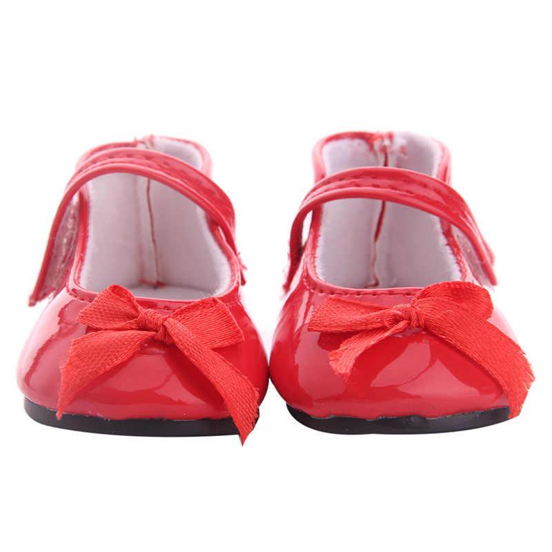 LUCKDOLL PU รองเท้า Fit อเมริกัน 18 นิ้วตุ๊กตาเด็ก 43 ซม.อุปกรณ์เสื้อผ้า,ของเล่น,รุ่น, วันเกิดของขวัญ