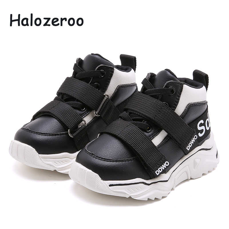 Autumn New Toddler Casual Sneakers Children High Sport Sneakers Baby Girls Mesh Shoes Boys Black Chunky Sneakers Brand Trainers