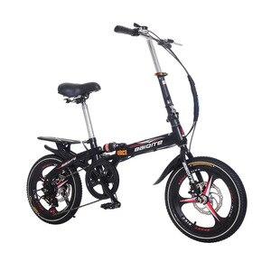 16 inch 20 inch folding bike 7 speeds Disc Bike with disc bike Adult bicycle frame mini bicycle with basket Folding Bicycle kids