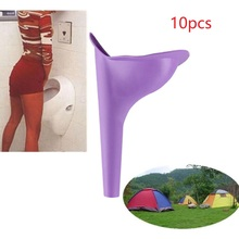 10pcs Portable Outdoor Women Urinal Tool Foldable Female Urinal Soft Silicone Urination Device Stand Up & Pee For Travel Camping medical quality healthy advanced silicone urinal for men women old people urinal incontinence bedridden patients