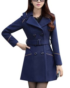 Image 5 - ZOGAA Brand Womens Wool Coats Autumn Fashion Long Trench Coat Women Warm Clothes Slim Fit Blends Solid Woolen Overcoat