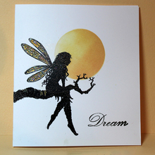 fairy Silicone Transparent Rubber Stamp background tree-goddess clear Stamps DIY Scrapbooking card making