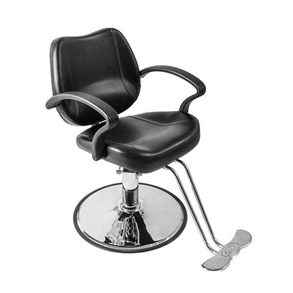 8801 Woman Barber Chair Black Barber Shop Hairdressing Chair With Non-slip Feet
