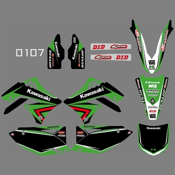 For KAWASAKI KXF450 2009 2010 2011 Graphics Decals Stickers Custom Number Name 3M Full Motorcycle Backgrounds Accessories