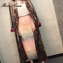 RICININA Women Skirt Midi Casual High Waist Pencil Skirts Womens Plus Size Autumn Winter Sequin Sexy Split Jupe Femme 2019